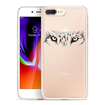 GoldSwift Funda iPhone 8 Plus, Transparente Funda para iPhone 8 Plus, iPhone 7 Plus