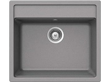 Favorit Schock Nemo N-100 U Croma Granit-Spüle Grau Spülbecken Küchenspüle JL51