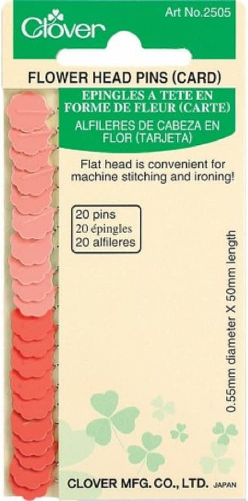 Clover Needlecrafts Bulk Buy Flower Head Pins 20 Pack Q2505 (6-Pack)