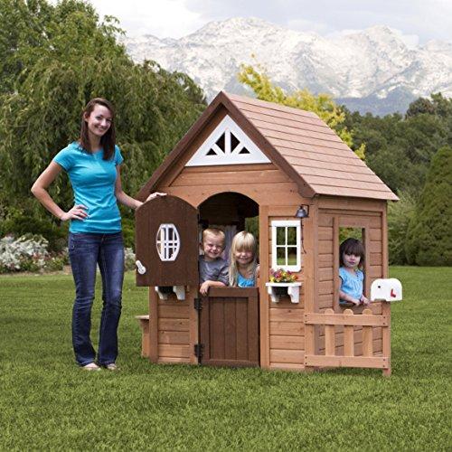 outdoor wooden playhouse - 5