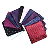 Bulk Mens Classic Silky Pocket Square HankieS For Suits