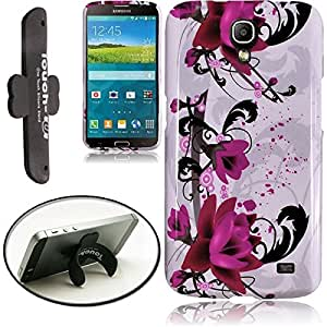 [ARENA] PURPLE LILY FLOWER COVER SNAP ON HARD CASE for SAMSUNG GALAXY MEGA 2 + FREE TONGUE STAND