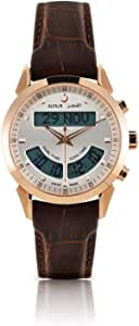 الفجر للرجال - ساعة يد سويسرية (موديل WA-10B) جلد بني