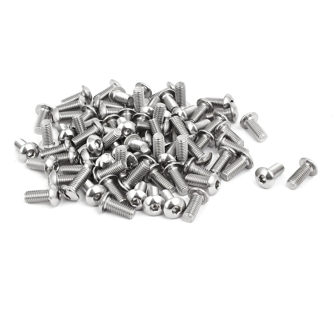 uxcell M5x12mm 304 Stainless Steel Button Head Hex Socket Cap Screws Bolts 80pcs