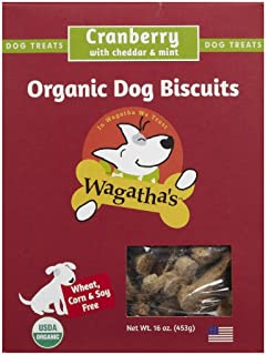 product image for Wagatha's Organic Cranberry Cheddar Dog Biscuits, 16 OZ