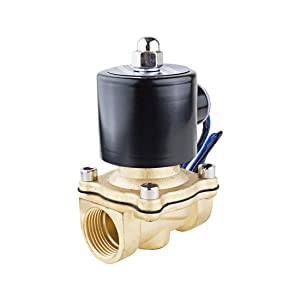 uxcell DC 24V 2W200-20 NPT 3/4 inches Normally Closed 2 Way N/C Brass Solenoid Valve for Water Air Gas Fuels