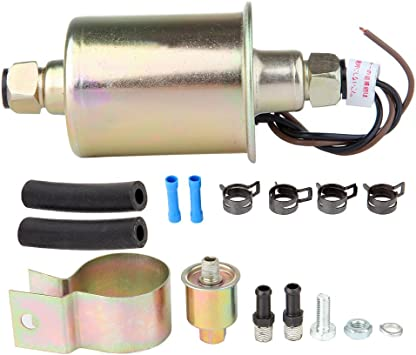 New E8012S 12V Universal Low Pressure Electric Fuel Pump With Installation Kit