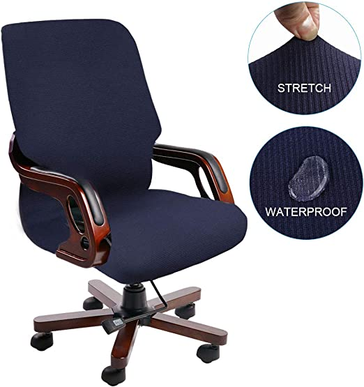 2pcs Office Chair Seat Covers Rotate Chair Seat Cushion Protectors Blue/_M