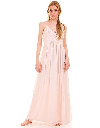 Vestido largo boda rosa palo de Vila Clothes