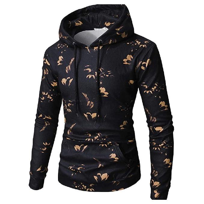 Yanhoo Camiseta con Capucha y Mangas largas con Estampado Digital de Flores  de los Hombres Sudadera con Capucha Estampada con Capucha y Estampado de  Flores ... 8def867a8b917