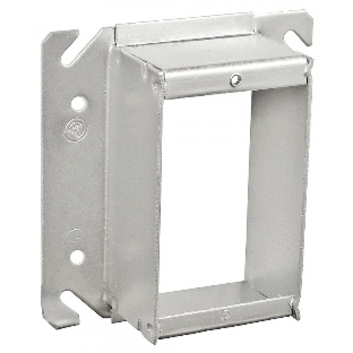 10 Pcs, 4'' Square One Gang Device Ring, Welded, 1/2 In. Raised, Zinc Plated Steel Used w/4'' Square Boxes to Mount Switches, Receptacles & Devices