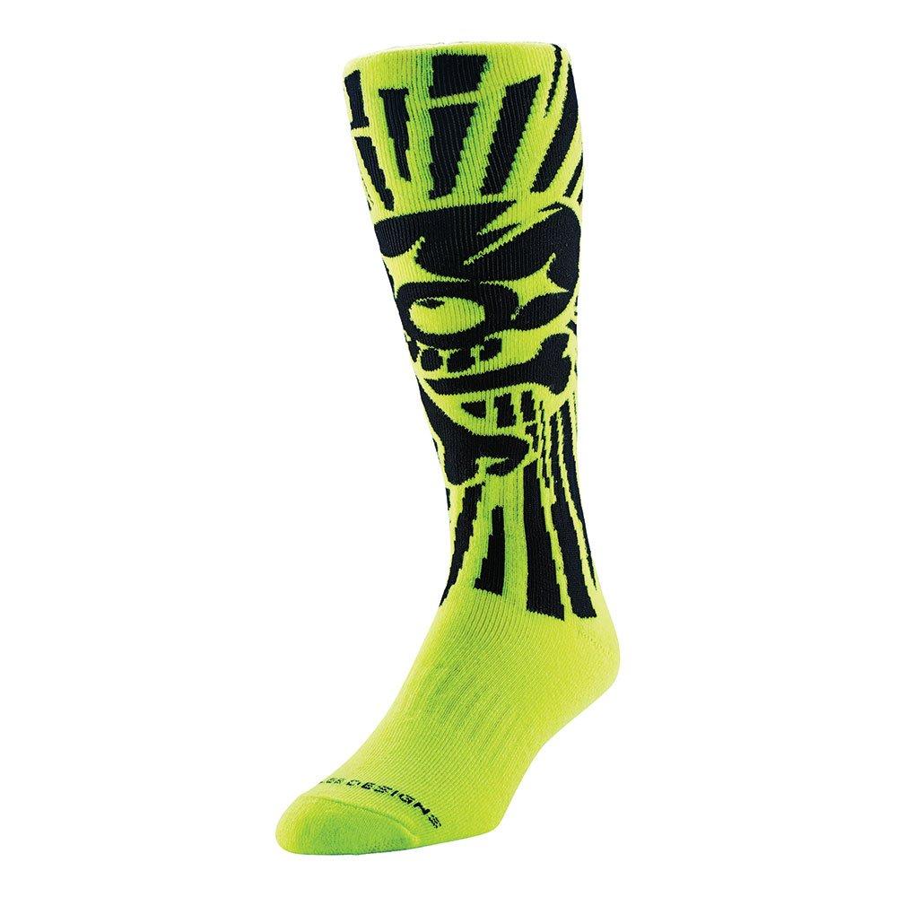 Troy Lee Designs GP Skully Mens Socks Yellow 8-10