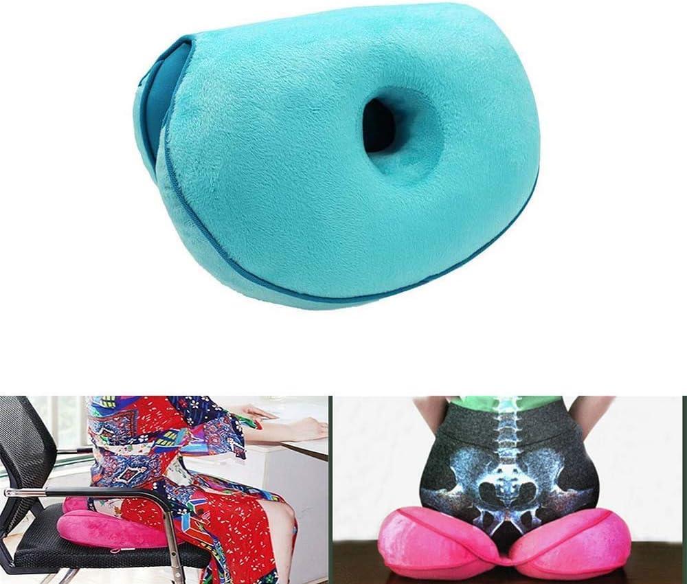 Blue Cuscino Sedile Multi-Funzione per Glutei Pieghevoli Postura Pieghevole Cuscino per Anca Cuscino per Sedia da Ufficio per Cuscino per Schienale Inferiore e Sollievo Sciatica