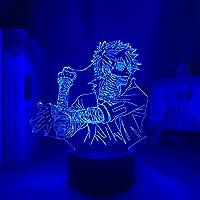 Academia Dabi 3D-nachtlampje, 3D-illusie lamp, My Hero Academia Dabi, led-nachtlampje voor kinderen, slaapkamer…