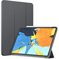 JETech Funda Compatible iPad Pro 11 Pulgadas Modelo 2018, (No para el Modelo 2020), Compatible con Apple Pencil, Smart Cover Auto-Sueño/Estela, Gris Oscuro