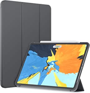 JETech Case for iPad Pro 11-Inch (2020 / 2018 Model), Compatible with Pencil, Cover Auto Wake/Sleep, Dark Grey