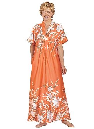 61b88187fc879 AmeriMark Trapunto Trim Caftan at Amazon Women's Clothing store: