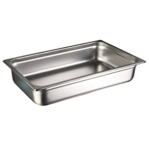 "Update International (NJP-1002) 2-1/2"" Full-Size Anti-Jam Steam Table Pan"