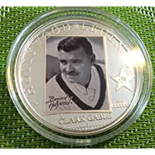 2010 $5 Sterling Silver Coin CLARK GABLE Hollywood Legends