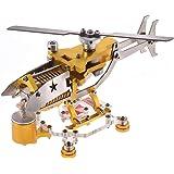 Aibecy 真空 スターリングエンジン 発電機モデル 300-1000RPM輸送ヘリコプター モーターキット 科学金属玩具 室内装飾