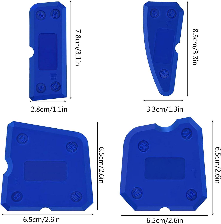 NEU 5 in 1 Silikon-Dichtungswerkzeug 2pcs Glasleim-Winkelschaber Kleber/ückstandsschaber-Nahtreparaturwerkzeug K/üche und Rahmen Silikondichtmittel-Entferner-Werkzeug f/ür Badezimmer