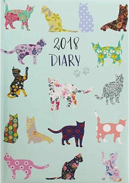A5 gatos 2018 agenda semana para ver Bundle con diseño de ...