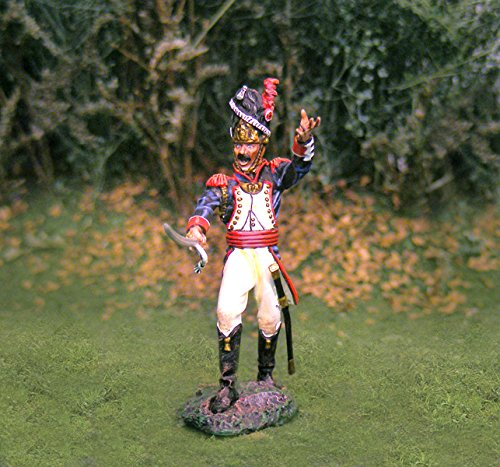 Napoleonic Toy Soldiers French Infantry Old Guard Officer Collectors Showcase Toy Soldiers Painted Metal Figure CS00699 Britains King Country Type