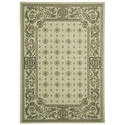Safavieh Courtyard Collection CY1356-3901 Sand and Black Indoor/ Outdoor Area Rug (4' x 5'7