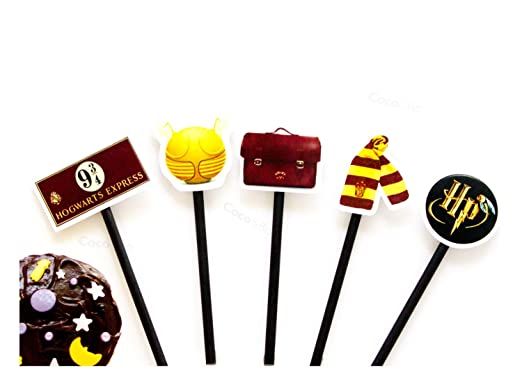 10 x Coco & Bo - Mágico magos Cupcakes/Púas - Harry Potter ...