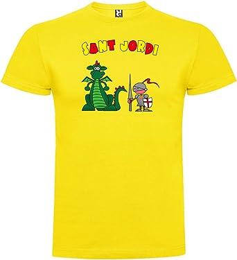 Camiseta Catalunya Sant Jordi Manga Corta Hombre: Amazon.es ...