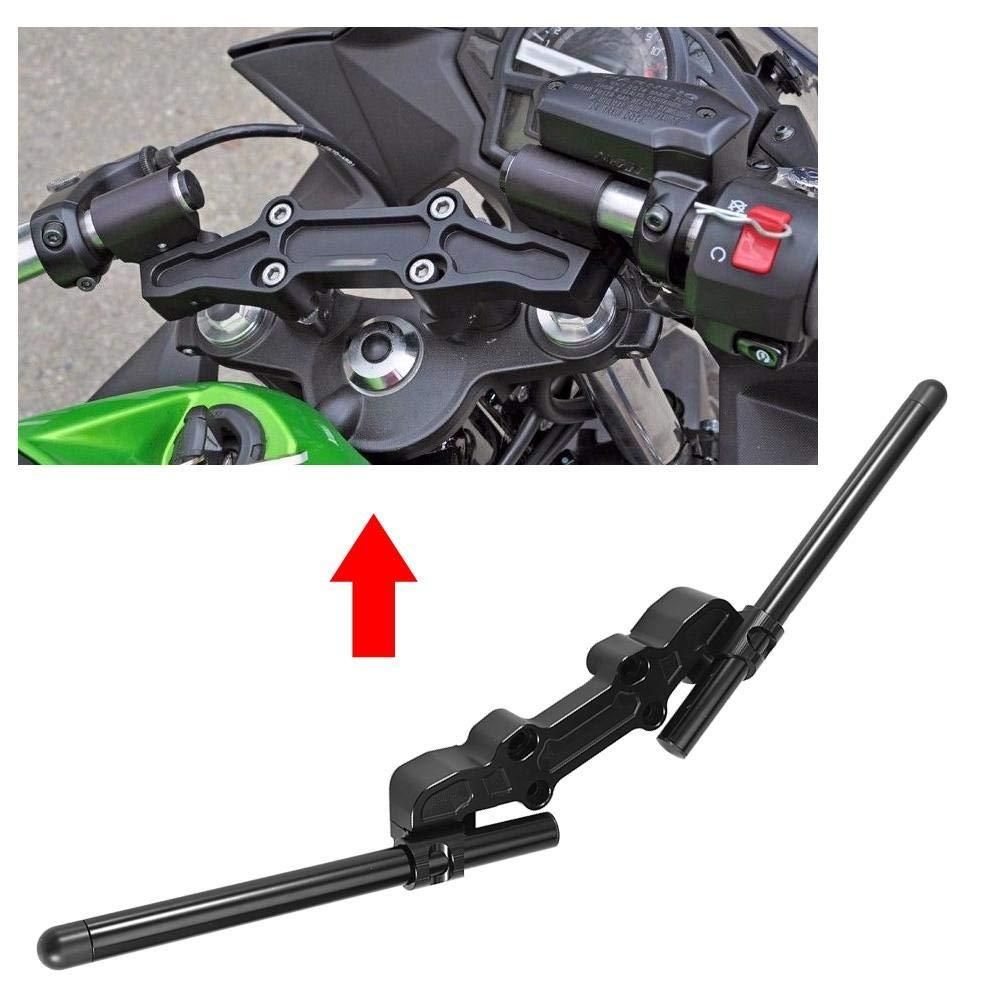 Acouto Motorcycle Universal CNC Handlebar Fork Clip Ons Clipon Billet Separate Handle Bar Set for Kawasaki Ninja 650R ER-6F 06-16