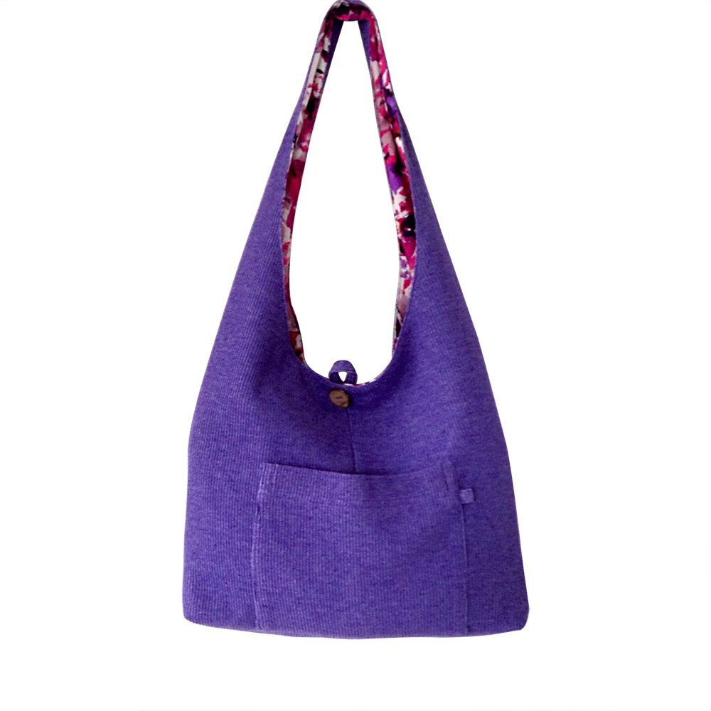 Handmade Tote Bag for Women -Reversible Strong Fabric Everyday Carry All