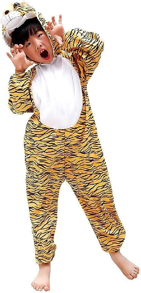 EVRYLON Disfraz de Tigre Unisex Disfrazado de Carnaval 5/6 años ...
