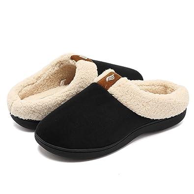 df15011769c CIOR Fantiny Women s Memory Foam Slippers Suede Wool-Like Plush Fleece  Lined Slip-on