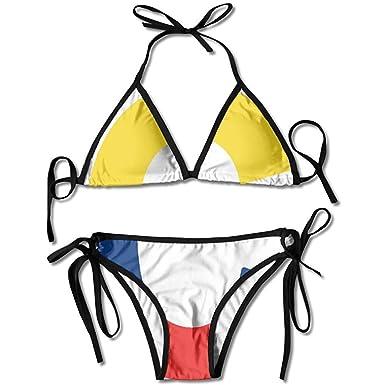 Swimwear, Colombia Flag C Letter Bikini Womens Summer Swimwear ...