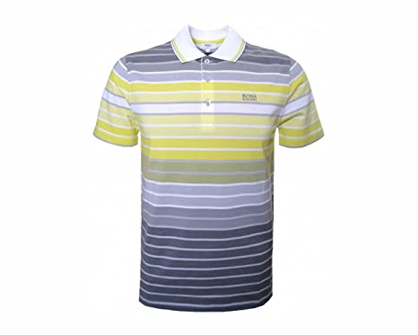 1f6205dd07bc Image Unavailable. Image not available for. Colour  Boys Hugo Boss J24A70  T00 Short Sleeve Striped Polo Shirt ...