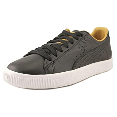 PUMA Womens Clyde Core Leather Leather Low Top Lace Up Fashion Black Size 6.5