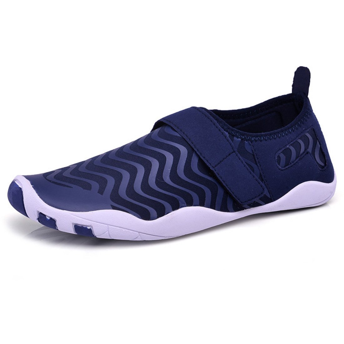 Water Shoes Quick Dry Aqua Shoes Barefoot Shoes for Water Sports Rubber Sole B07DMGQMGV EU Size 38(US Size Women 7)|Navy Blue