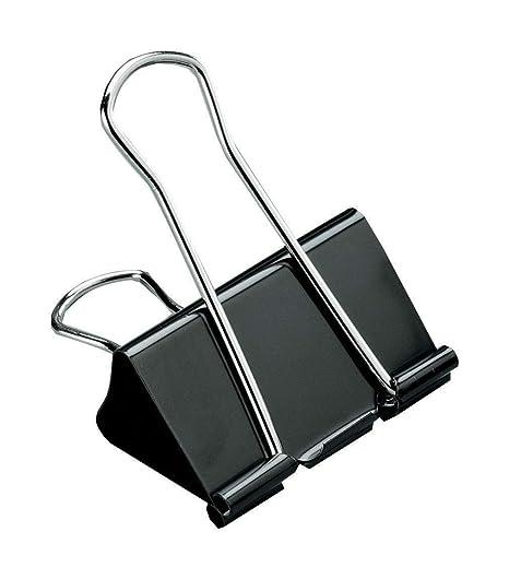12 X 19mm,25mm,32mm,41mm,51mm Black Foldback Office Binder Clips Bulldog Metal