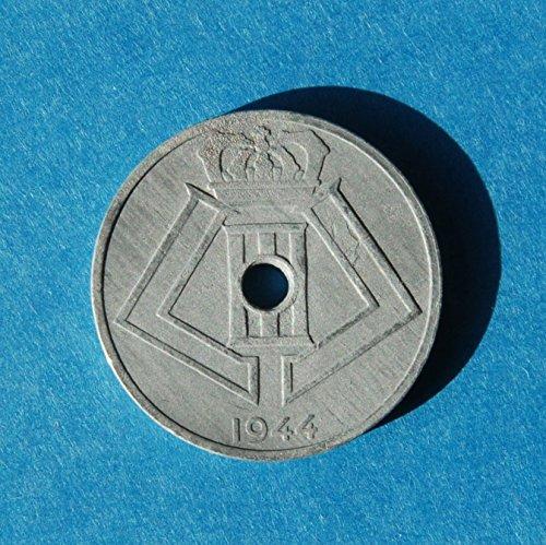 Belgium Belgie - Belgique 25 centimes 1944 WWII Zinc Coin Léopold III