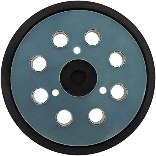 Replacement Sanding pad for Dewalt//Porter Cable 5 Inch Dia 8 Hole Sander Hook and Loop Pad Replaces BO5030//K BO5031K BO5041K Yellow