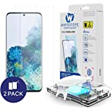 Galaxy S20 Plus Screen Protector [Dome Glass] Full HD Clear 3D Curved Edge Tempered Glass [Better Solution for Ultrasonic Fin