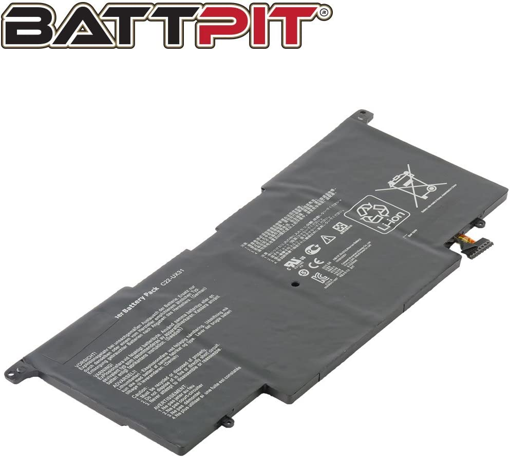 6840mAh//50Wh Battpit/™ Laptop//Notebook Battery Replacement for Asus ZenBook UX31A Ship From Canada