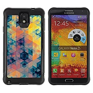Suave TPU GEL Carcasa Funda Silicona Blando Estuche Caso de protección (para) Samsung Note 3 / CECELL Phone case / / Blue Yellow Orange Pattern /