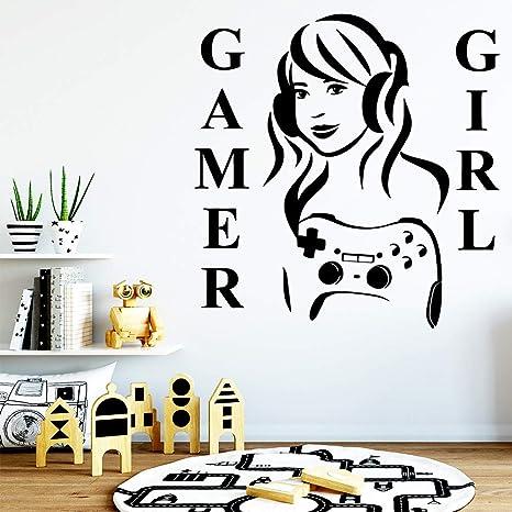 TYLPK Diy Art Gamer Girl Pegatina decorativa Impermeable ...