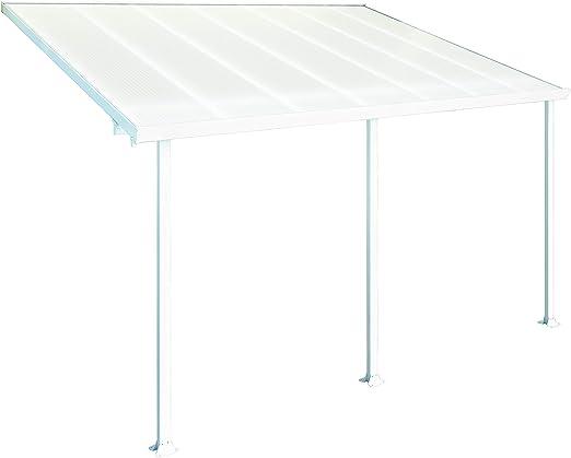 Palram Pergola Feria Blanca 3x4.2- Aluminio y policarbonato.: Amazon.es: Jardín
