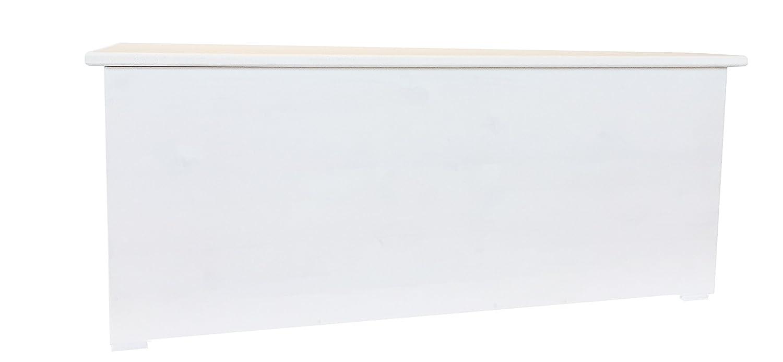 Amico Legno Cassapanca in Multistrato con Cerniera Interna cod 57 60x45x47 Smalto Ad Acqua Colore Bianco