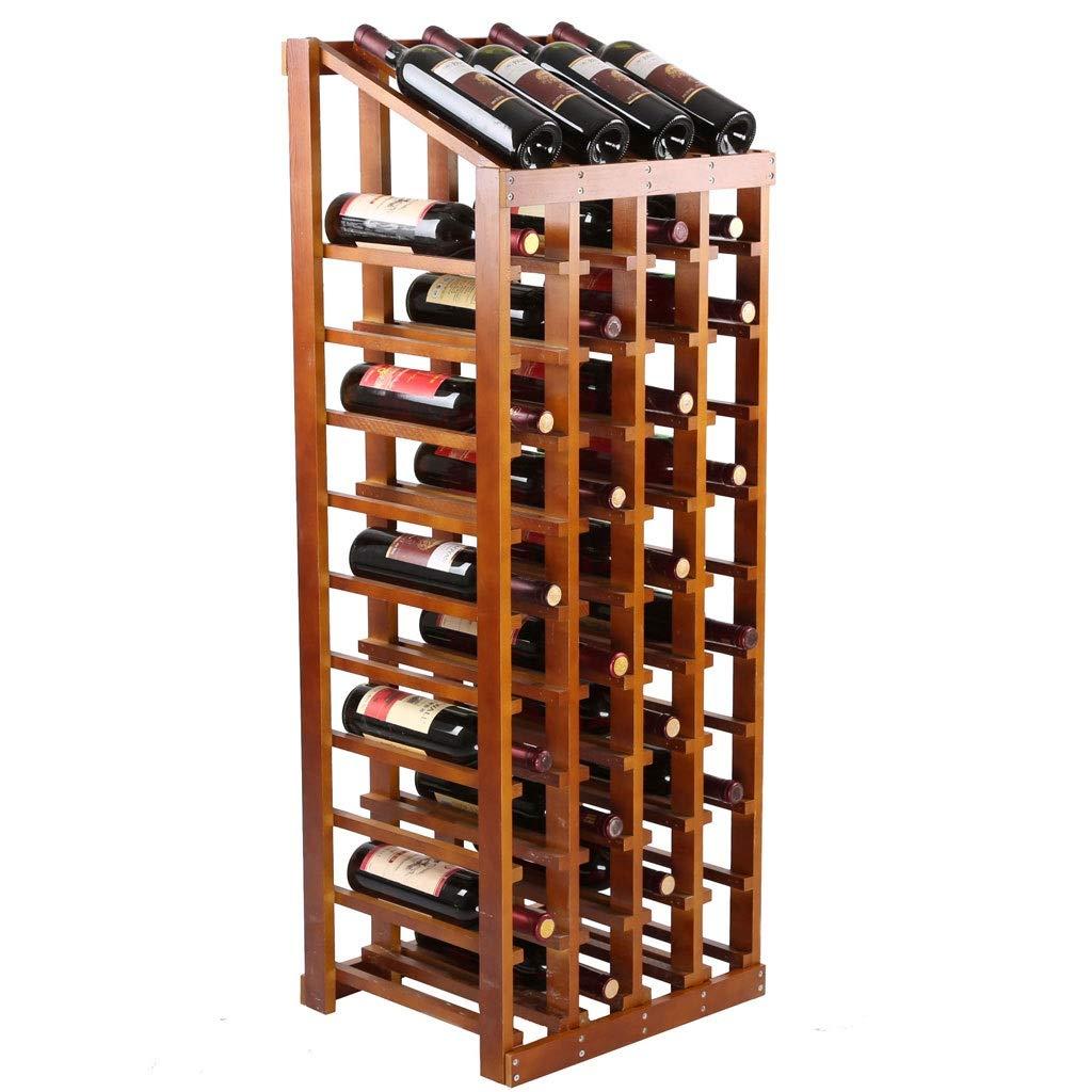Color XING ZI Wine rack H-T-Z Porte-Bouteilles De M/énage Pr/ésentoir en Bois Massif Porte-Bouteilles De Vin en Bois /Étag/ère /À Vin /Étage /Étag/ère Europ/éenne 48 Porte-Bouteilles 120x44x36CM A+