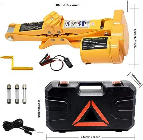 Captiankn Car Jack 3 Ton Load Bearing 12v Electric Scissor Lift Kit Mit Power Cord Battery Clip Auto