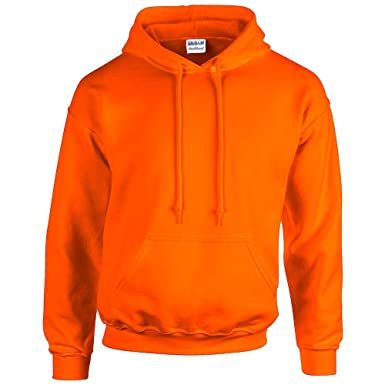 Gildan Heavy Blend Sudadera con capucha de 18500 naranja Safety Orange: Amazon.es: Ropa y accesorios